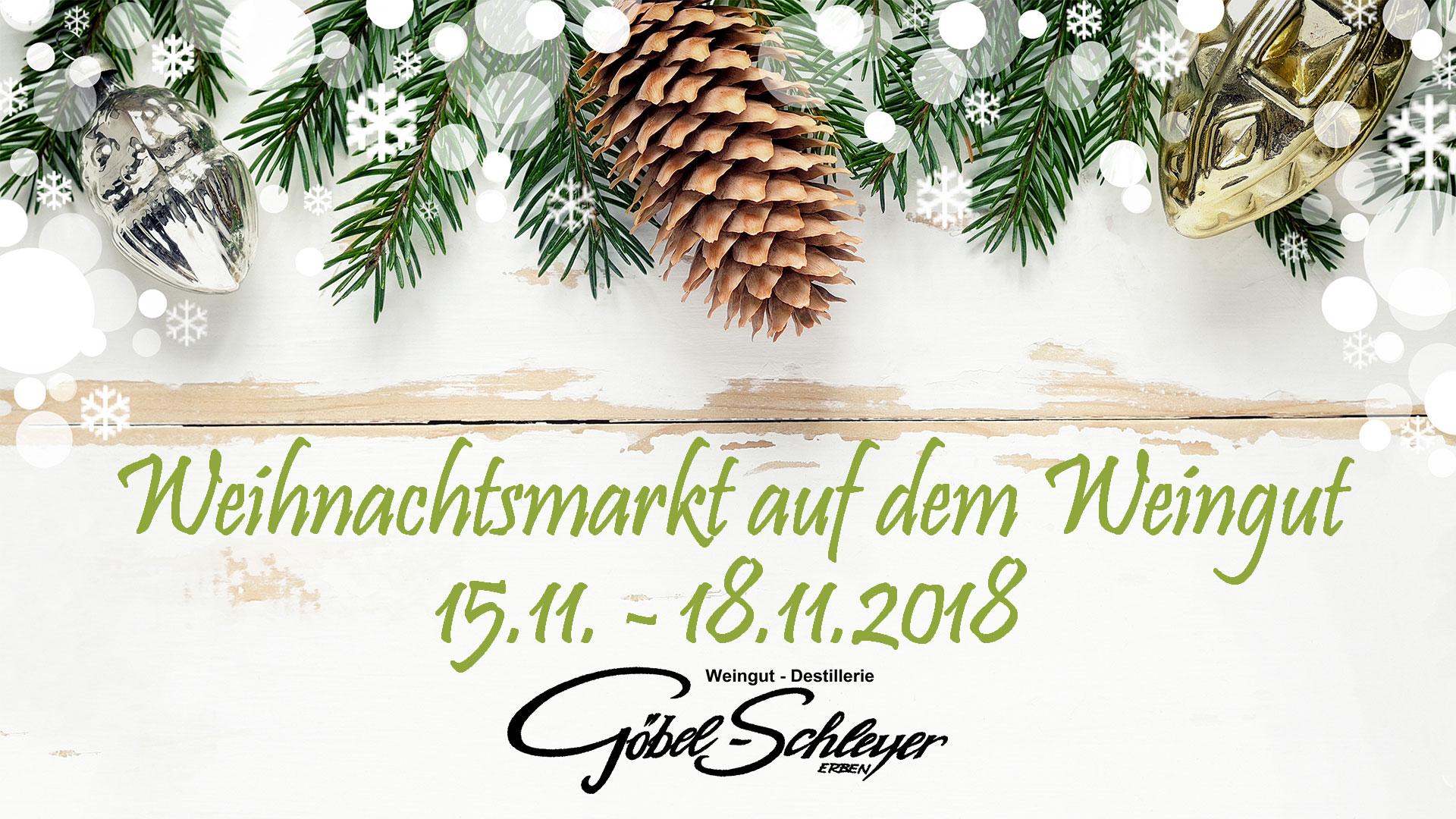 Weihnachtsmarkt auf dem Weingut Göbel-Schleyer-erben
