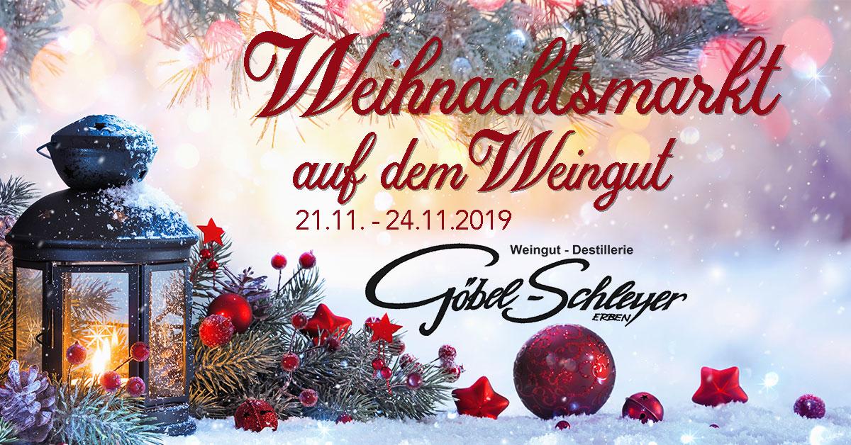 Weihnachtsmarkt auf dem Weingut 2019 Titelbild
